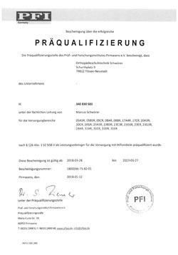 Präqualifizierung Versorgung mit Hilfsmitteln Orthopädie Schuhtechnik